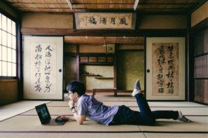 中山道望月宿にある空き家の活用例提案写真 ノマドワーカーの自由な利用をイメージした