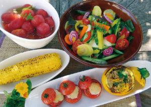 野菜の特徴や味を活かした料理からは農園の風景が映し出される。
