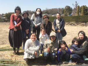 もぐりんの畑(もぐファーム)で自然栽培を行う今年の仲間たち。